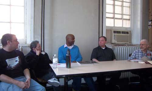 Panel: The Future of LGBT Publishing (L to R) Steve Berman, Sandy Karp, Michael-Christopher, Jameson Currier, Perry Brass