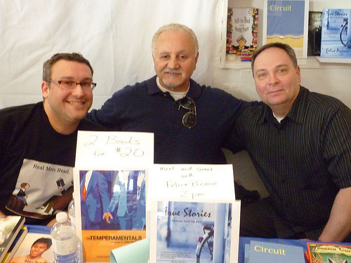 Chelsea Station Editions—SPONSOR—Felice Picano (C), Jameson Currier (R), Lethe Press—Steve Berman (L)