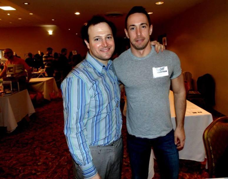 RBF6_VOLUNTEERS—Johnathan Morpurgo and Volunteer Photo by Jon Nalley
