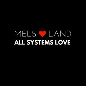 2 Mels Love Land White on Black