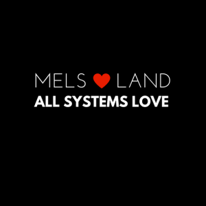 2 Mels Love Land White on Black